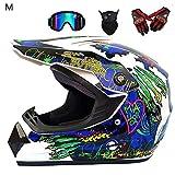 Funihut Casques Motocross Casque Sport Moto Sport Double Sport té Bicyclette VTT, Ensemble De...