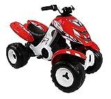 Smoby - 033050 - Quad Électronique X Power Carbone - Véhicule Electronique pour Enfant - 2 Roues Motrices - Autonomie Batterie 2 heures - 6V - Noir