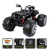 Cristom  Monster Quad électrique 24V pour enfant Connexion MP3 - MODELE XXL (noir)