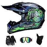 RAON Motocross Moto Casques de Moto et Gants & Goggles Certification D. O. T Quad Bike ATV Go...