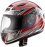 Protectwear Casque moto pour enfant, rouge/argenté, SA03-RT, Taille: 2XS / Youth M (50/51 cm)